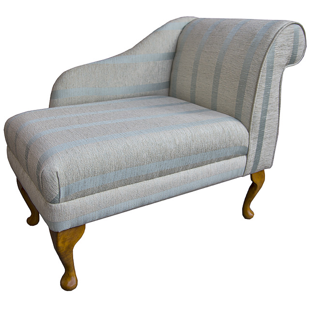 Compact chaise longue chair in an conway duck egg blue for Reduced furniture