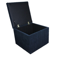 Charming Jumbo Storage Box/Footstool In Jumbo Navy