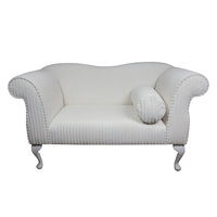 Double Ended Chaise Longue in a Jumbo Chalk Cord Luxury Velvet Fabric