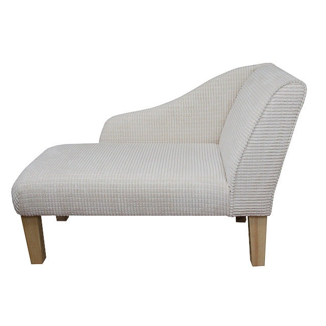 41 new style modern chaise longue in a brick cream fabric - Chaise medaillon moderne ...