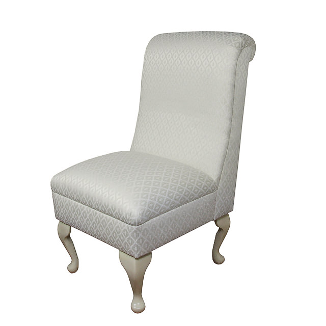 bedroom chair in a oyster diamond chenille fabric