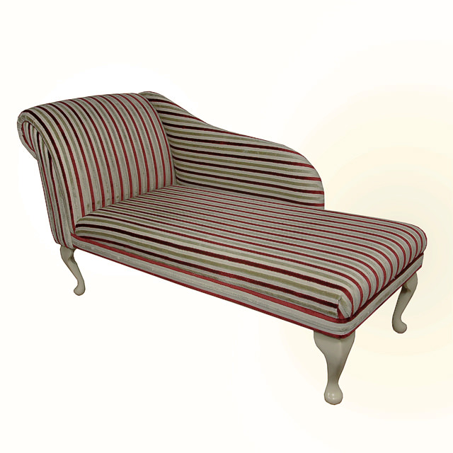 Chaise longue chair in henna gold stripe fabric ebay for Dimension chaise longue