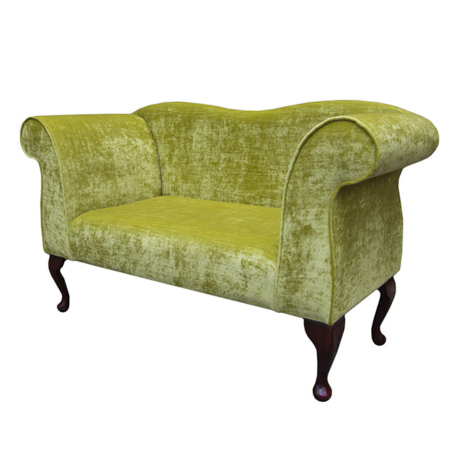 Double ended chaise longue chair in a pastiche slub lime for Chaise longue double a bascule