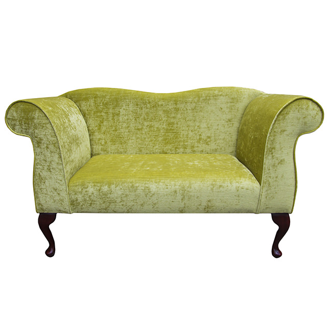 Double ended chaise longue chair in a pastiche slub lime for Chaise longue double exterieur