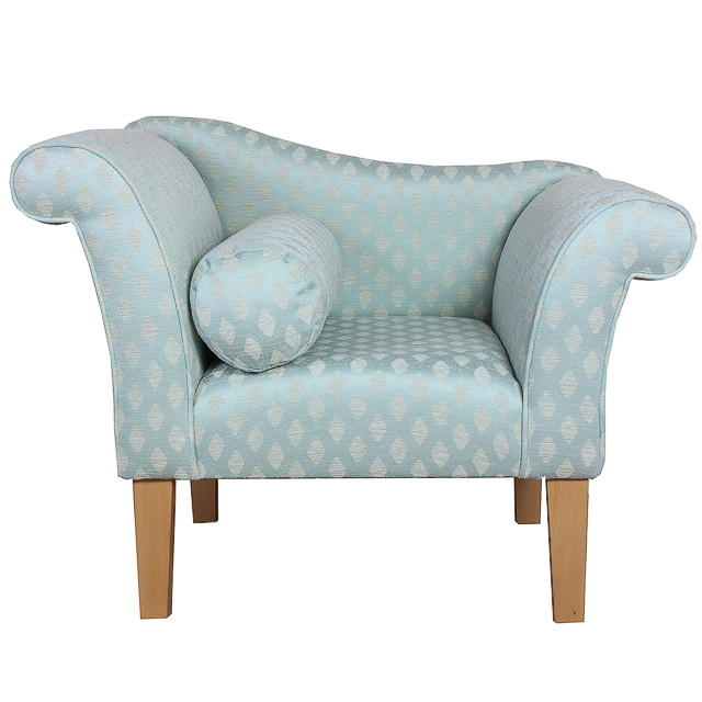 Duck Egg Blue Leather Sofa: Gorgeous Designer Armchair Upholstered In A Duck Egg Blue