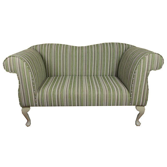 Double ended chaise longue chair in a green grey stripe for Chaise longue double exterieur