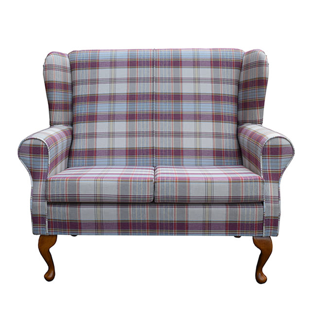 Two Seater Small Westoe in Lancaster Candy Check Fabric