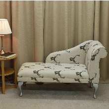 "52"" Chaise Longue in a Stag Print Fabric"