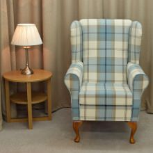 Small Westoe Armchair in a Balmoral Sky Fabric