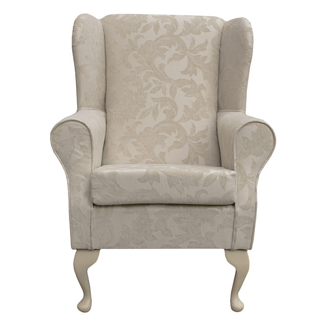 wing back fireside armchair small orthopaedic in a cream. Black Bedroom Furniture Sets. Home Design Ideas