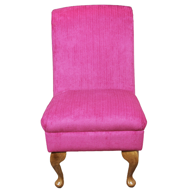 Bedroom Chair in a Rich Pink Fabric eBay. Pink Bedroom Chair