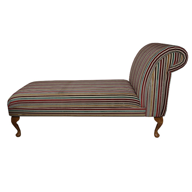 Armless chaise longue in a multi colour red green for Armless chaise longue
