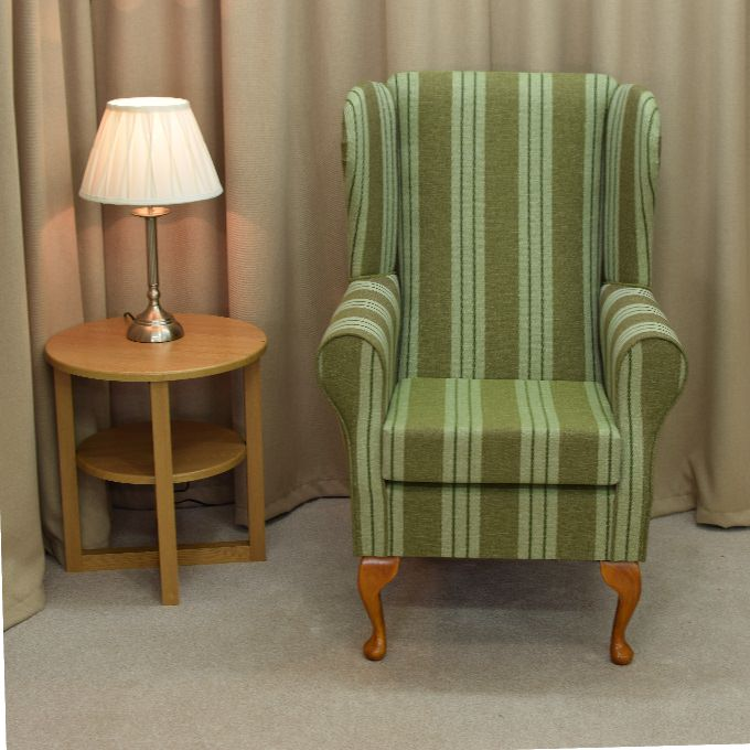Small Westoe Armchair in a Jura Sage Green Fabric