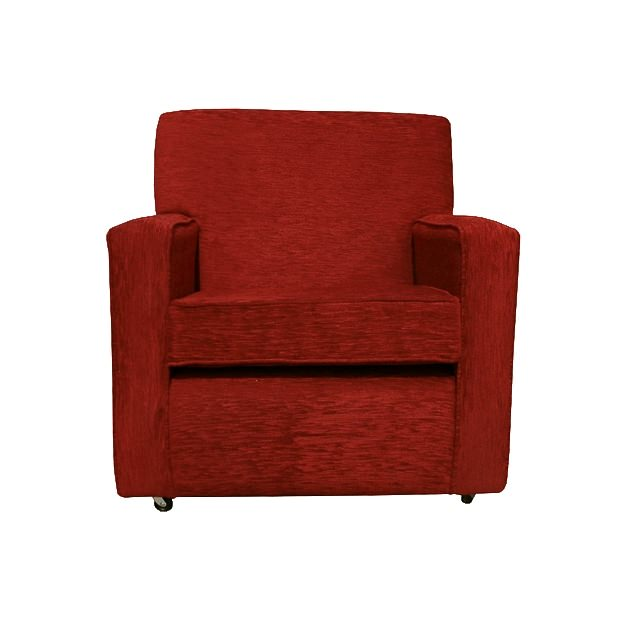 Chair in a Red Diamante Fabric. Beaumont Furnishings