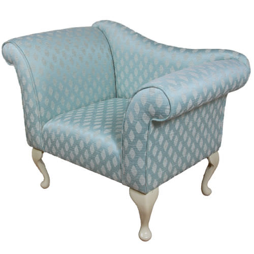 Gorgeous Designer Armchair upholstered in a Duck Egg Blue ...