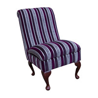 Bedroom Chair in a Clio Stripe Fuchsia Fabric