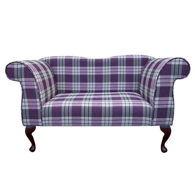 double ended chaise longue chair in a kintyre grape tartan fabric ebay. Black Bedroom Furniture Sets. Home Design Ideas