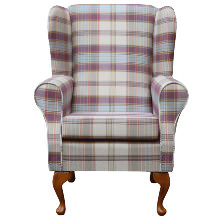 Westoe Chair in a Lancaster Candy Check Fabric