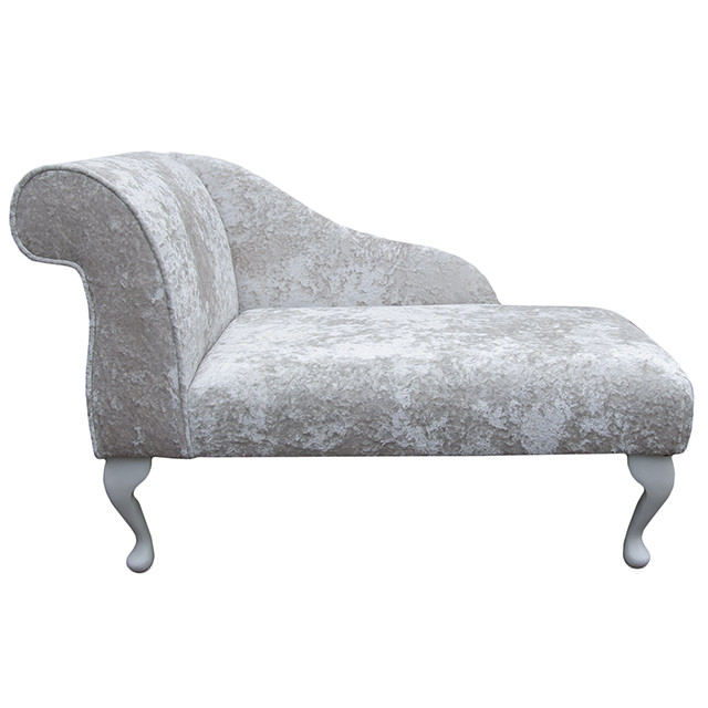 Small chaise longue chair in a lustro chalk fabric ebay for Peindre chaise longue plastique