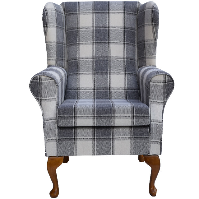 Small Westoe in an Alderney Dove Grey Check Fabric