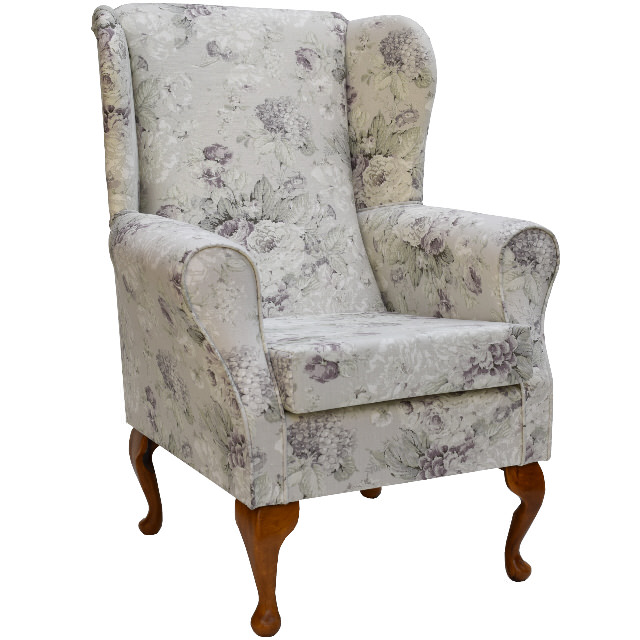 Small Westoe Wing Back Fireside Armchair in a Chatsworth ...