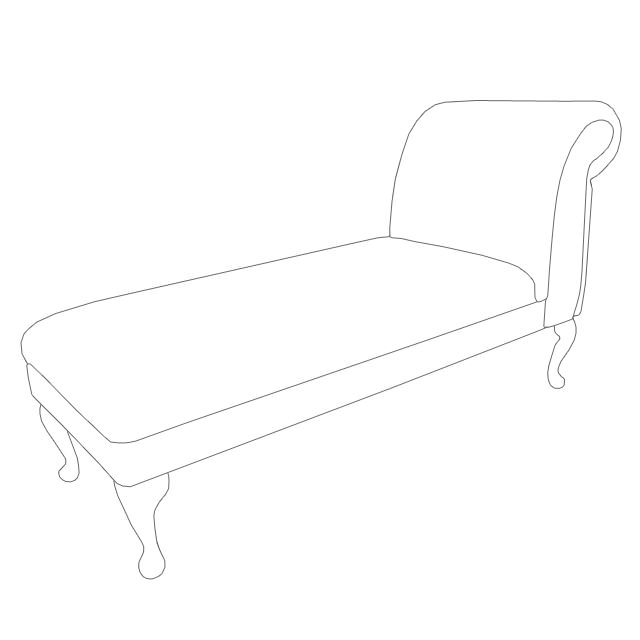 Beaumont furnishings for Armless chaise longue
