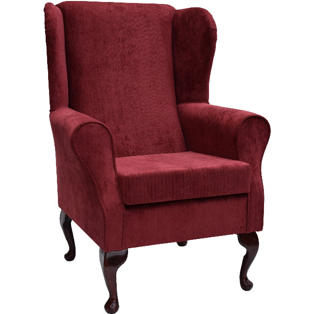 fabric wing back chairs topaz fabric wing back orthopaedic fireside chair 15198 | sw topazburgundya